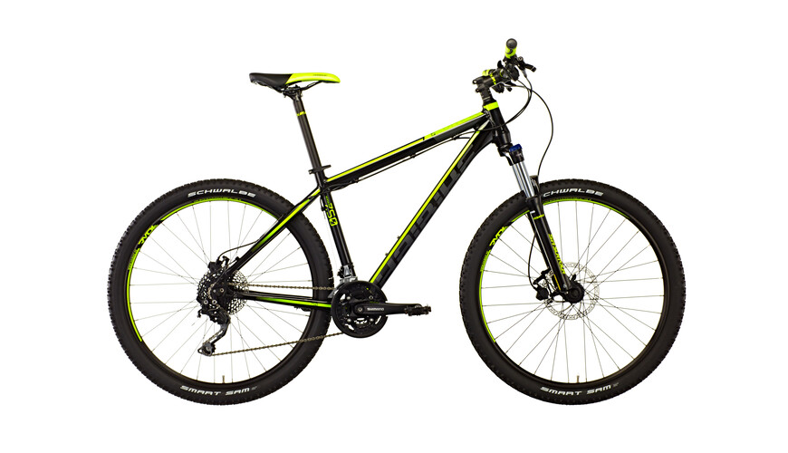 "HAIBIKE Edition 7.50 27.5"" Mountainbike sort/gul/grå"